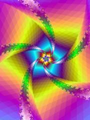 Poster de jardin Psychedelique Floral Spiral