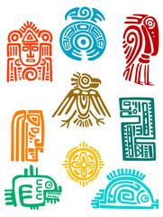 Ancient maya elements and symbols