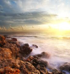 sea on sunset