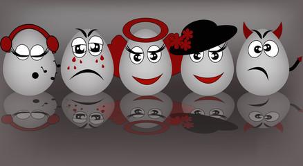 Set amusing eggs