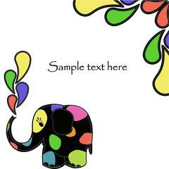 Fun colorful elephant