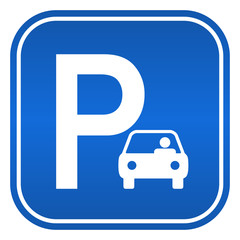 Car parking sign, vector illustration