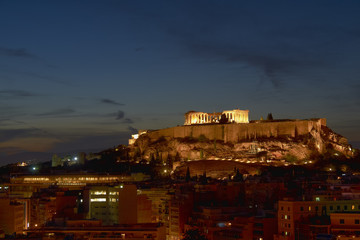 Acropolis  illuminated, Athens Greece