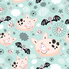texture of pigs and bats
