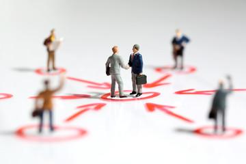 Netzwerken und Unterstützung in der Geschäftswelt.