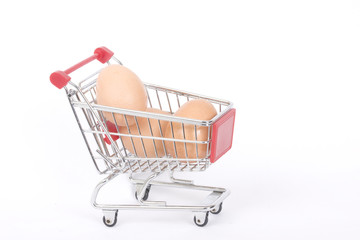 trolley and eggs