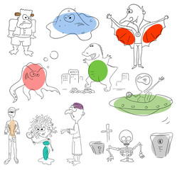Vector monster collection on a white background