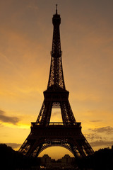 Sunset at the Eiffel Tower, Paris, France.