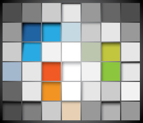 Vector abstract squares background