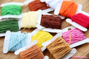 Cross-stitching threads