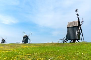Windmühlen bei Resmo, Insel Öland, Schweden