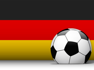 Germany Soccer Ball with Flag Background