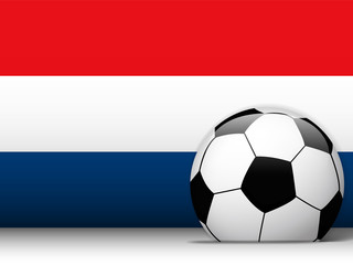 Netherlands Soccer Ball with Flag Background