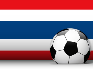 Thailand Soccer Ball with Flag Background
