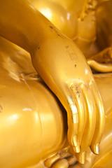 Hand of gold Buddha