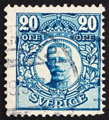 Postage stamp Sweden 1911 Gustaf V, King of Sweden