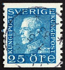 Postage stamp Sweden 1925 Gustaf V, King of Sweden
