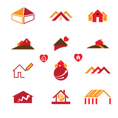 House & office logo icons for real estate business
