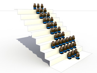 Little People of the white stairs №2