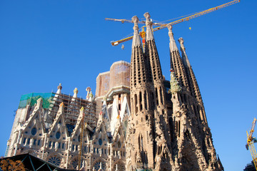 Barcelona Sagrada Familia cathedral by Gaudi