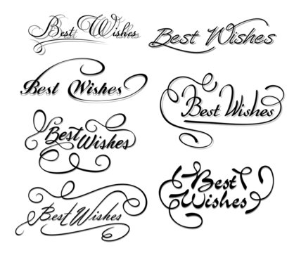 Best wishes calligraphic elements