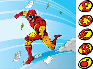 Aluminium Prints Superheroes Super speedster