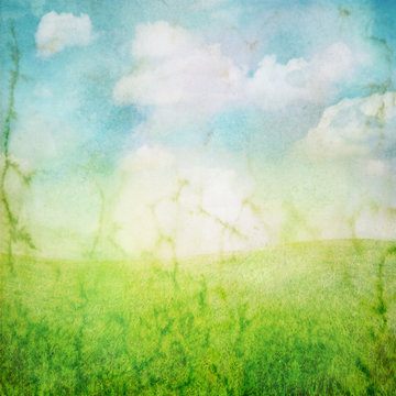 sky and grass series