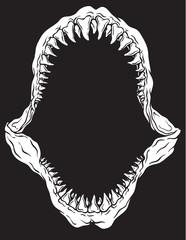 Shark Jaw Isolated Vector Illustration