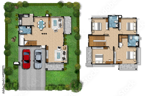 House plan presentation stock photo and royalty free for Floor plans presentation