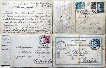 Vintage postcards and letters