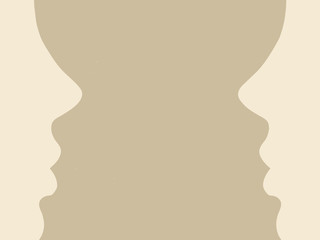 person silhouette on brown background