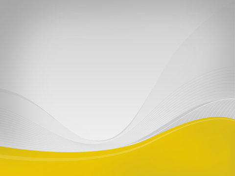 Light gray background Dizzy-HF, yellow wave