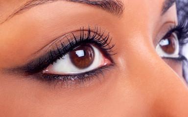 close-up of girls eye