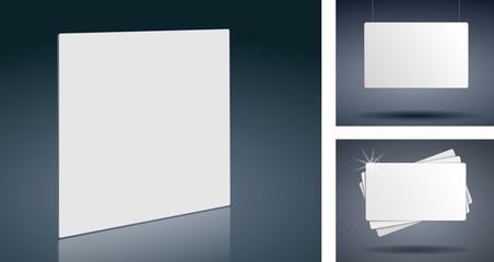 Werbeschilder Weiß