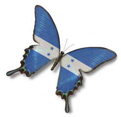 Honduras flag on butterfly