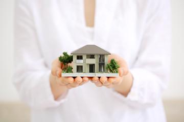 住宅模型・手の平