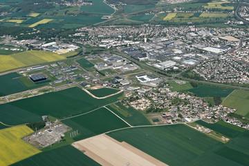 Vue aérienne zone commerciale de Dreux/Vernouillet, 28