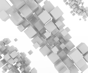 Abstract geometric shape from gray cubes