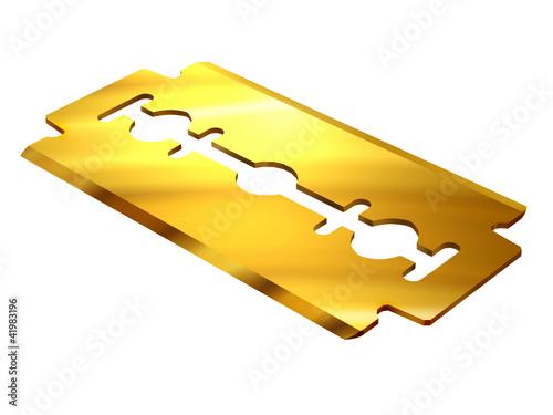 golden razor blade stockfotos und lizenzfreie bilder auf bild 41983196. Black Bedroom Furniture Sets. Home Design Ideas