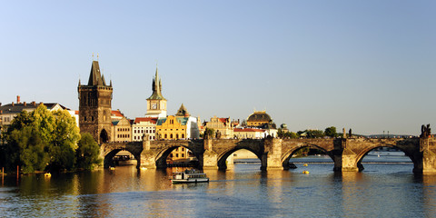 Charles bridge and Vltava river, Prage