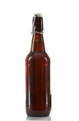 amber flip top beer bottle