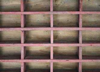 Vintage wood shelf