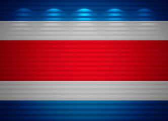 Costa Rica flag wall, abstract background