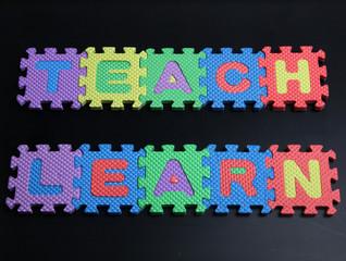Teach on a blackboard