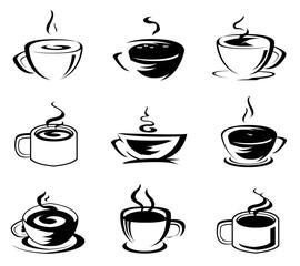 Coffee set icon