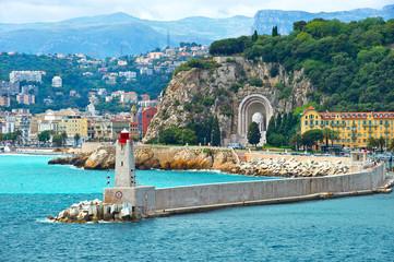 Foto op Canvas Nice view of mediterranean resort, Nice, Cote d'Azur, France
