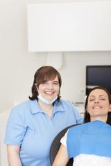 zahnarzthelferin in der praxis