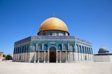 Golden Dome on the Rock Mosque (Har Ha-Bayit) in Jerusalem