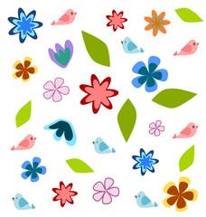 Children floral background