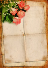 Blank for romantic letter